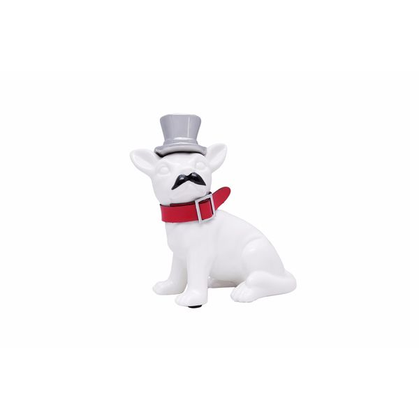 Ceramic Dog Bank with Silver Hat