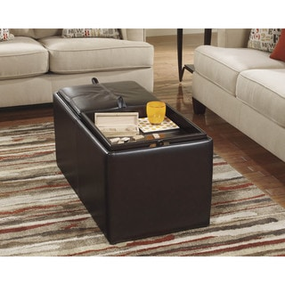 Signature Design by Ashley Deshan Accents Chocolate Ottoman With Storage