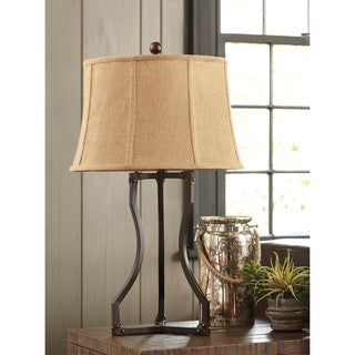 Signature Design by Ashley Samone Antique Bronze Finish Metal Table Lamp