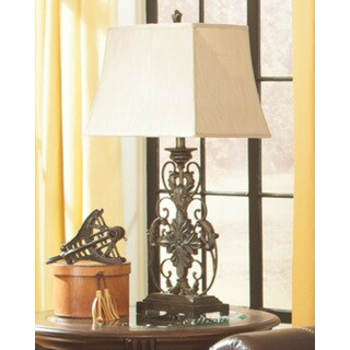 Signature Design by Ashley Sallee Gold Finish Metal Table Lamp
