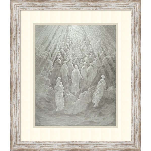 'Beatrice Ascends with Dante to the Planet Mercury' Framed Art Print 20x23-in