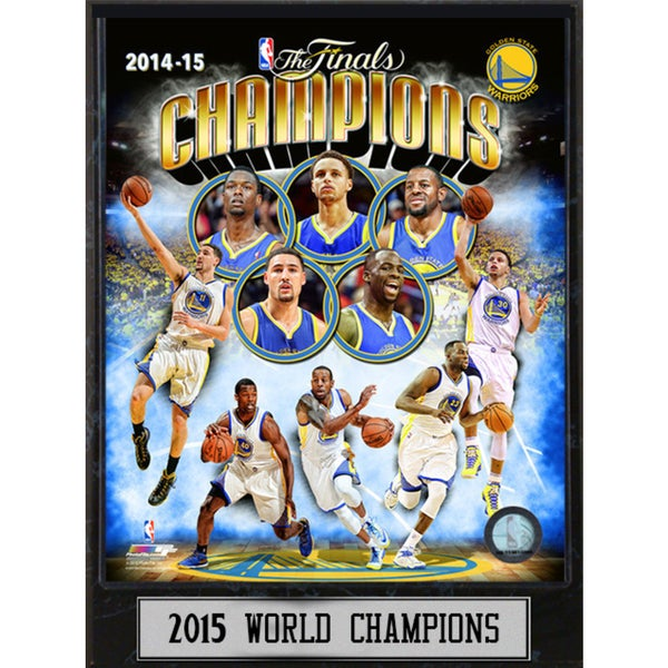 2015 NBA Champions Golden State Warriors Collectors Plaque
