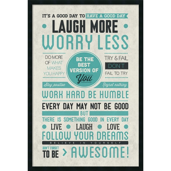 Be Awesome' Framed Art Print with Gel Coated Finish 25x37-in