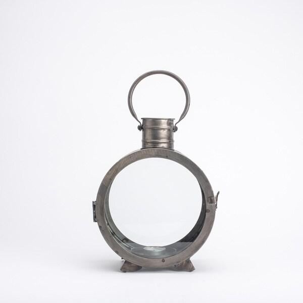 Distressed Iron Lantern - Round