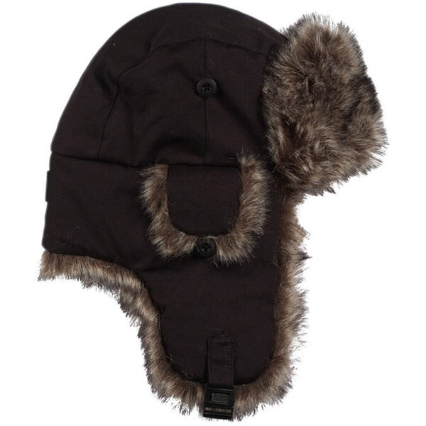 Excell Men's Brown Faux Fur Trapper Hat