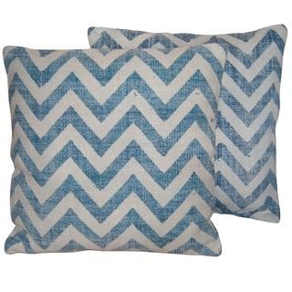 "Herat Oriental Indo Handmade Printed Cotton 20"" Pillows (Set of Two)"