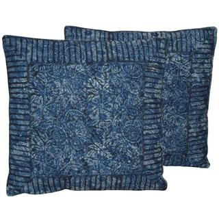 Herat Oriental Indo Handmade Printed Cotton 20'' Pillows (Set of Two)