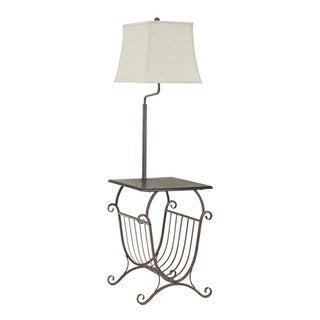 Signature Design by Ashley Shodan Brown Metal Tray Lamp