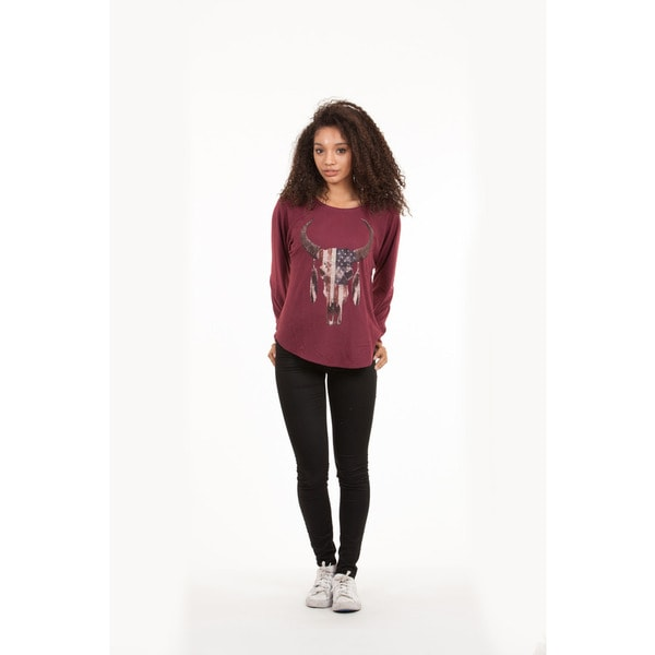 Junior Bull Head Long-Sleeve Raglan T-Shirt