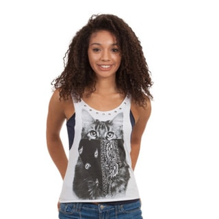 Junior Loose Extra Low Bandana-covered Tank Top
