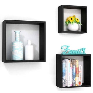 Wall Cube and Square Display Decorative Shelf Set of 3