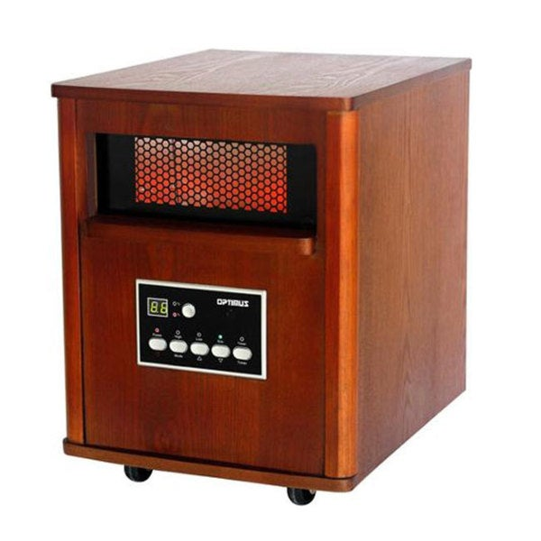 Optimus H-8121 Infrared Quartz Heater with Remote Control (Refurbished)