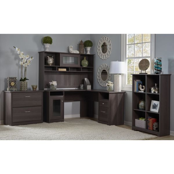 Bush Furniture Cabot Collection L Shaped Desk And Hutch