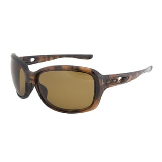 Oakley OO9158-02 Urgency Tortoise Frame Bronze Polarized Lens Sunglasses