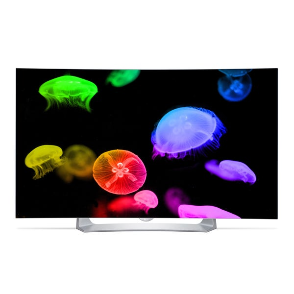LG 55EG9100 55-inch 1080p 120Hz Smart Wi-Fi OLED Curved HDTV with Web OS 2.0 - With Free Solidmount