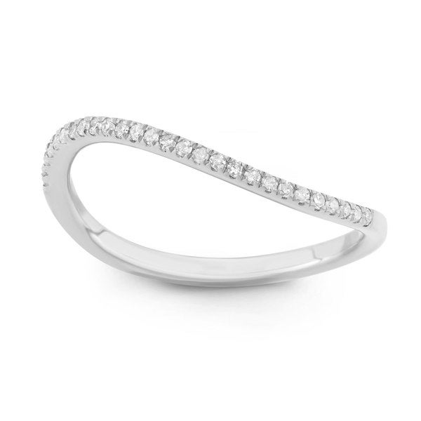 Sterling Silver Diamond Accent Curved Stack Ring