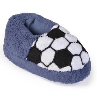 Journee Kid's Sport Plush Slippers