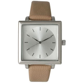 Olivia Pratt Women's Sleek Squared Leather Watch