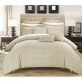 Chic Home Tussard Beige Faux Linen Oversized 12-piece Bed in a Bag Set