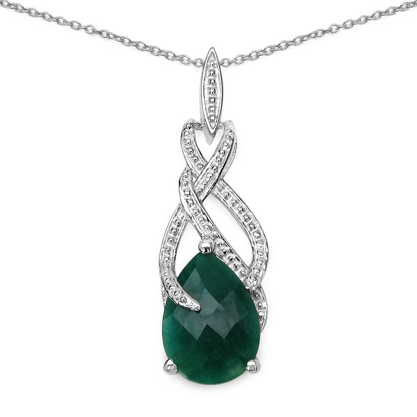 Malaika 7.48 carat genuine emerald .925 sterling silver pandent a5796ec8 6b84 488c 9bf8 87fa43bdf841 600