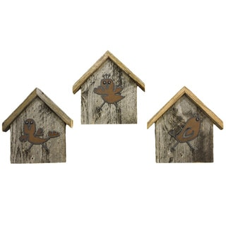 Natural Reclaimed Rustic Birdhouse Key Holder, COMBO PACK