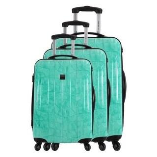 France Bag Cancun Crocodile 3-piece Hardside Spinner Luggage Set