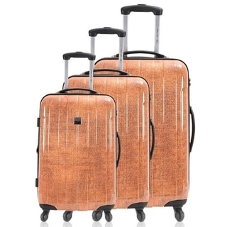 France Bag Cancun Denim 3-piece Hardside Spinner Luggage Set