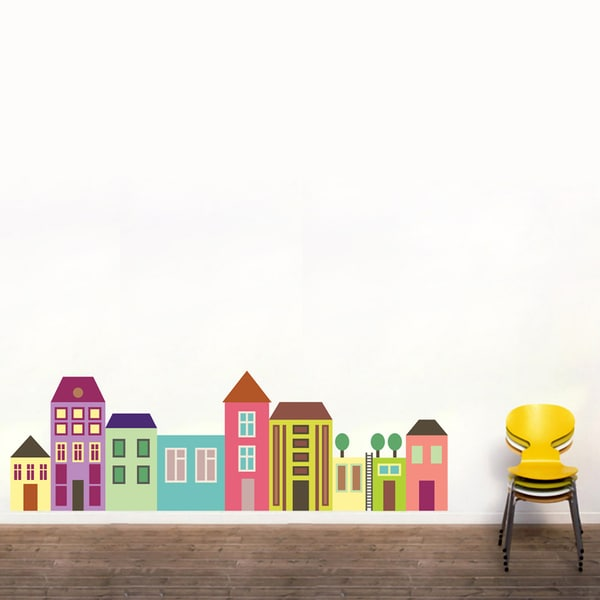 Printed Little City Wall Decal