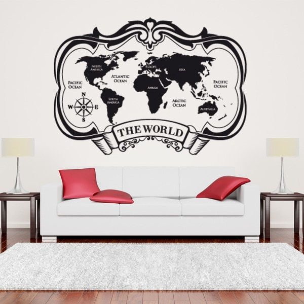 The World Map World Vinyl Wall Art