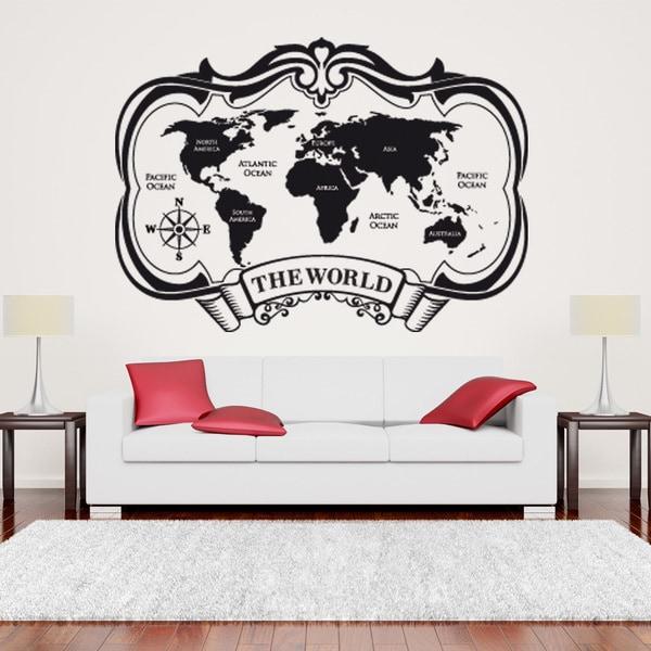 The World Map World Vinyl Wall Art