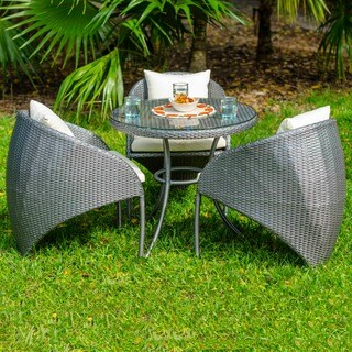 Neptune Synthetic Rattan Outdoor Four Piece Bistro Set