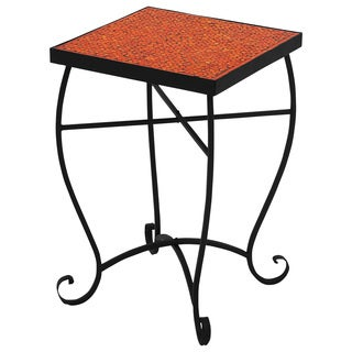 Moroccan Mosaic Red Square Side Accent Table