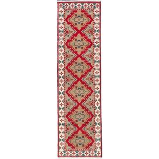 ecarpetgallery Royal Kazak Red Wool Rug (2' x 9')