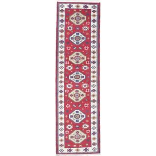 ecarpetgallery Hand-knotted Royal Kazak Red Wool Rug (2' x 9')