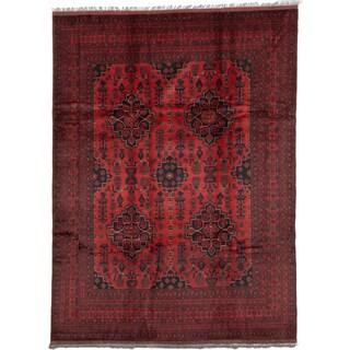 ecarpetgallery Fine Khal Mohammadi Orange Wool Rug (8' x 11')