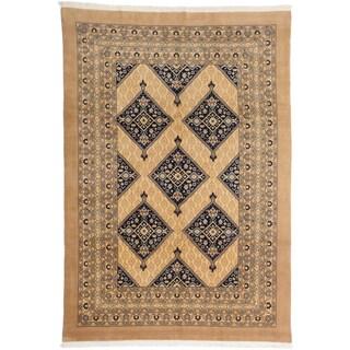 ecarpetgallery Caucasus Kula Beige Wool Rug (7' x 11')