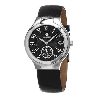 Philp Stein Women's 41-FB-CB 'Novelties' Black Dial Black Leather Strap Swiss Quartz Watch