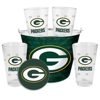 Green Bay Packers Glass Bucket and Pint Gift Set