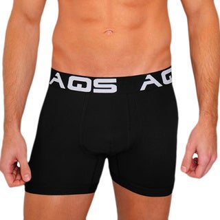AQS Men's Black Boxer Briefs (Pack of 3)