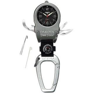 Dakota Men's Black Dial Time Tool Clip Watch
