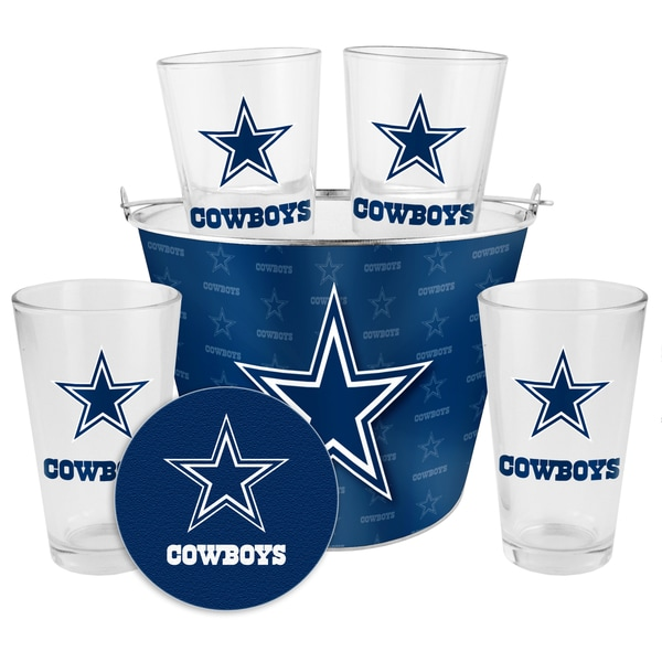 Dallas Cowboys Glass Bucket and Pint Gift Set