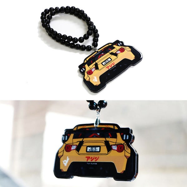 iJDMTOY JDM Toyota 86 Scion FR-S Subaru BRZ Rearview Mirror Hanging Charm Dangling Beaded Pendant For Car Decoration