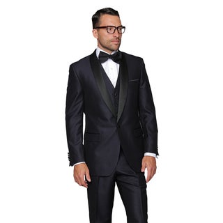 Enzo Men's Indigo Statement 3-Piece Tuxedo