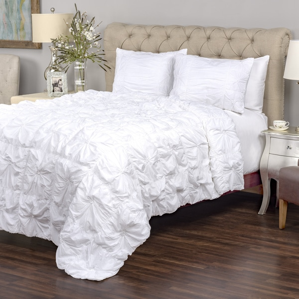 Arden Loft Sweet Dreams White Collection 3-piece Quilt Set