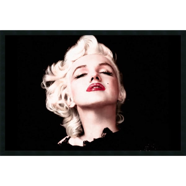 Marilyn Monroe 'Eyes Shut' 37x25-inch Framed Art with Gel Coated Finish
