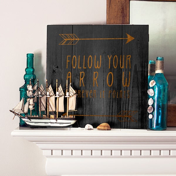 Rustic Black Arrow Wooden Wall Art