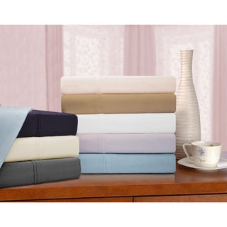 Luxor Treasures 425 Thread Count Cotton Solid Sheet Set