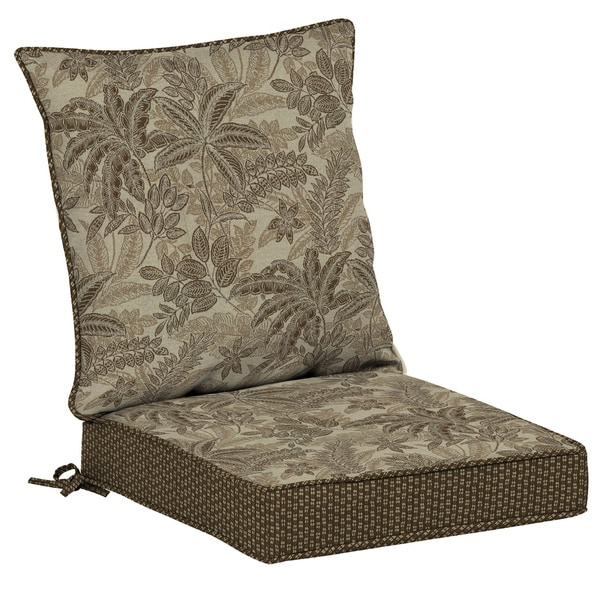 Bombay Outdoors Palmetto Mocha Reversible Dining Cushion Set