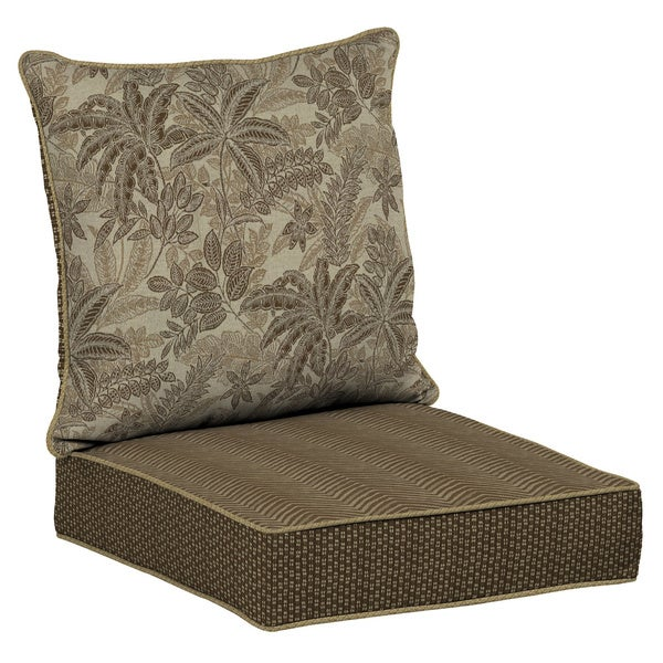 Bombay Outdoors Palmetto Mocha Reversible Deep Seat Cushion Set