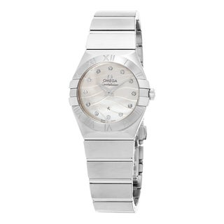 Omega Women's 123.10.27.60.55.003 'Constellation' Mother of Pearl Diamond Dial Stainless Steel Watch